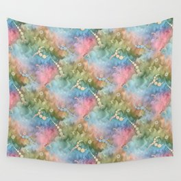 Satin Rainbow Pastel Floral Wall Tapestry