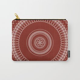 Two Toned Minimual Mandala Design Carry-All Pouch