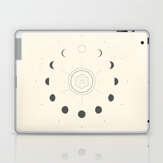 Moon Phases Light Laptop & iPad Skin