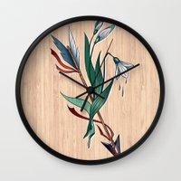 arrow Wall Clocks featuring Arrow by Станислава Коробкова