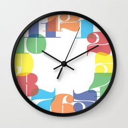Wall Clock - Colourful Numbers Wall Clock