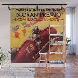 1948 Vintage Barcelona Car Racing Motor Sport Penya Rhin Grand Prix Gran Premio Advertisement Poster Wall Mural