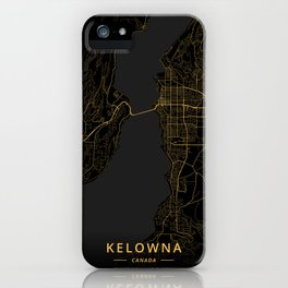 Kelowna, Canada - Gold iPhone Case