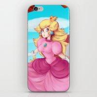 princess peach iPhone & iPod Skins featuring Princess Peach by Spudenski