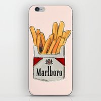 fries iPhone & iPod Skins featuring Fries by Sara Eshak