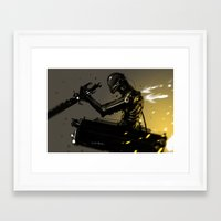 attack on titan Framed Art Prints featuring Attack on Titan Fan Art LEGION BLACK SQUAD by Benedick Bana