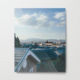Kyoto Rooftops II Metal Print