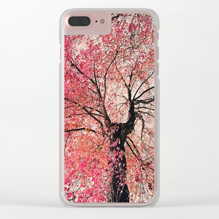 Red tree Clear iPhone Case
