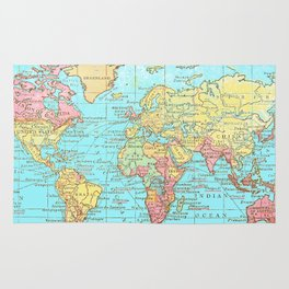 Map of the World Rug