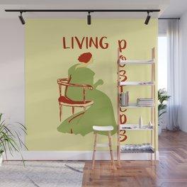 Living posters minimalist art nouveau Wall Mural