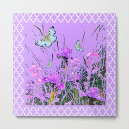 LILAC PURPLE MODERN FLOWERS ABSTRACT Metal Print