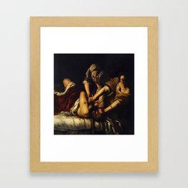 JUDITH BEHEADING HOLOFERNES - GENTILESCHI Framed Art Print