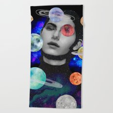 spaced out. Beach Towel