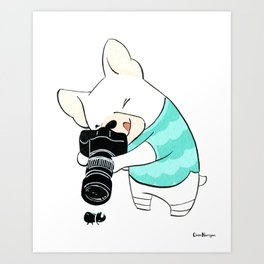 French Bulldog Photographer (Dogs with Jobs series) Art Print