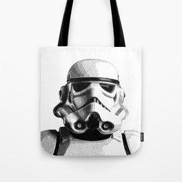 Stormtrooper Hand Drawn Dotwork - StarWars Pointillism Artwork Tote Bag