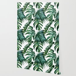 Simply Island Palm Leaves Wallpaper