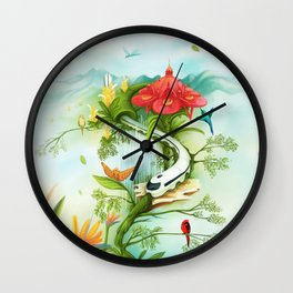 Medellin Flowers Wall Clock