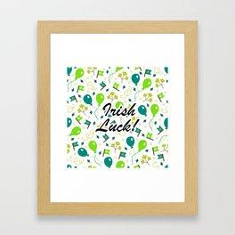 Luck 'O The Irish Pattern Framed Art Print