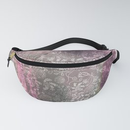 Lace Sky Collage Fanny Pack