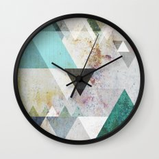 Graphic 3 blue Wall Clock
