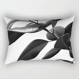 Ficus Elastica Black & White Vibes #1 #foliage #decor #art #society6 Rectangular Pillow