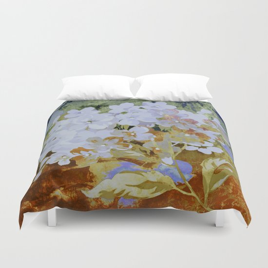 hydrangea and textures Duvet Cover
