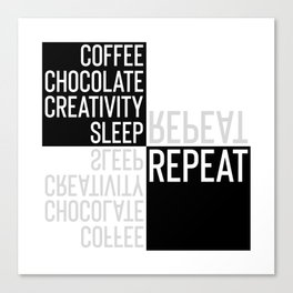 Typographic Design CREATIVE LIFESTYLE Canvas Print