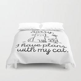 Cat Plans Duvet Cover