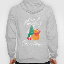 HAVE A PURRFECT CHRISTMAS Happy Cat Merry Christmas and Christmas tree Hoody