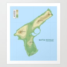 Battle Royale - Movie Poster Art Print