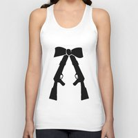 bow Tank Tops featuring Bow by Panic Junkie