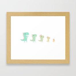 Evolution of a Chicken Framed Art Print