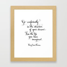Go Confidently Framed Art Print
