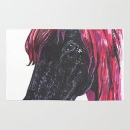 Dark unicorn Rug