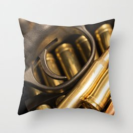 Rifle Trigger and Bullets Throw Pillow