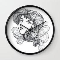 gray Wall Clocks featuring Gray by SkinnyGinny