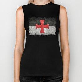Knights Templar Flag in Super Grunge Biker Tank