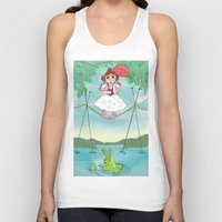 haunted mansion Tank Tops featuring Baby Haunted Mansion Tightrope Ballerina by Amanda K. Hootman