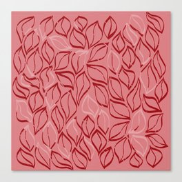 Wiggle Leaves in Reds Canvas Print