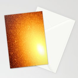 Golden Sun Stars Stationery Cards