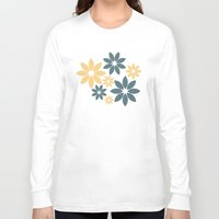 flora Long Sleeve T-shirts featuring Flora by Julia Paige Designs