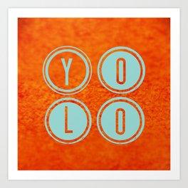 YOLO Light Blue Art Print