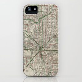 Vintage Map of Indianapolis Indiana (1921) iPhone Case