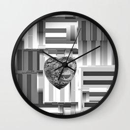 Jasper Heart in Vacancy Wall Clock