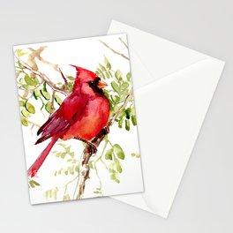 Northern Cardinal, cardinal bird lover gift Stationery Cards