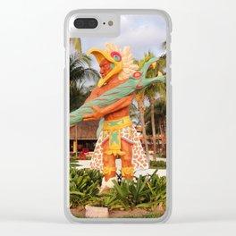 Mayan Statue Clear iPhone Case