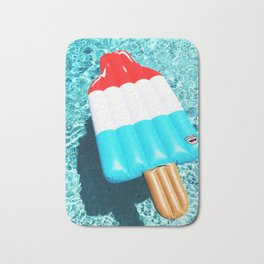 popsicle float all up in our pool Bath Mat