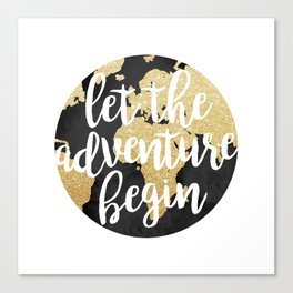 Let The Adventure Begin Canvas Print