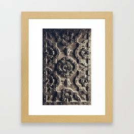 The iron door Framed Art Print