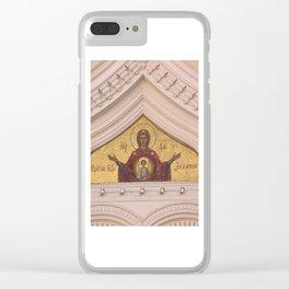 Christian Mosaic In Tallinn Clear iPhone Case